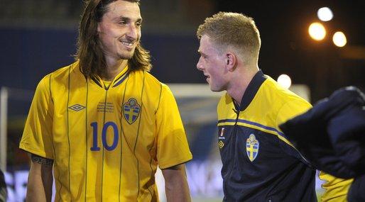 Zlatan och Guidetti. Bägge är med i årets Europa League