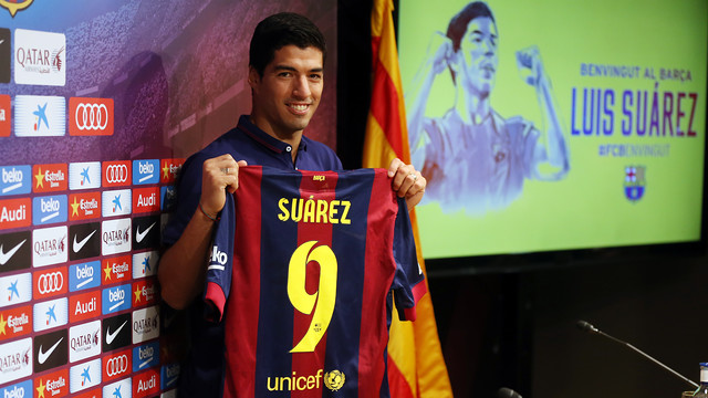 En tung start blev en lysande vår för Suárez som passat utmärkt ihop med Messi och Neymar Jr, Foto: fcbarcelona.com