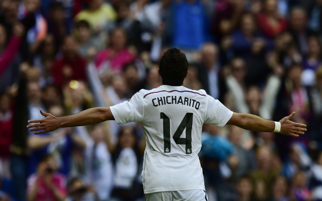 Chicharito är lite överraskande Real Madrids hetaste spelare den senaste veckan! Foto: Caughtoffside
