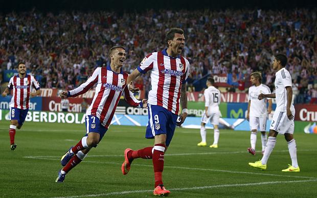 Ingen Mandzukic men väl en stekhet Antoine Griezmann finns kvar i Atlético. Kan de besegra Barcelona? Foto: The Telegraph