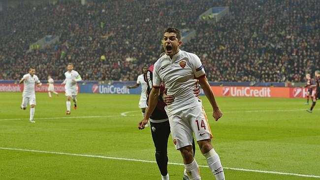 När Falqué gjorde 4-2 till Roma med 15 minuter kvar att spela trodde många att matchen var över. Leverkusen ville annat! Foto: Foxsports.com