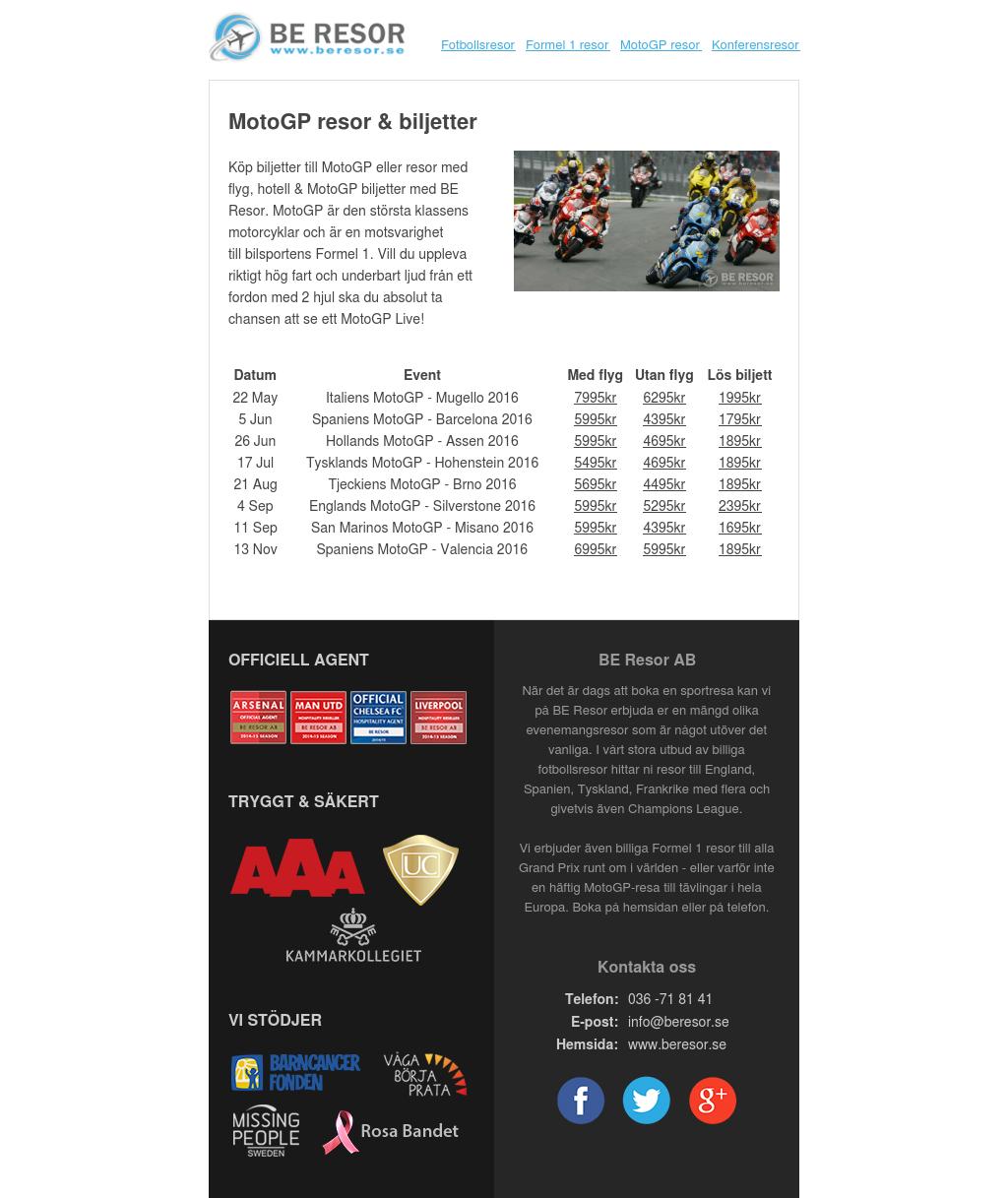 MotoGP resor & biljetter