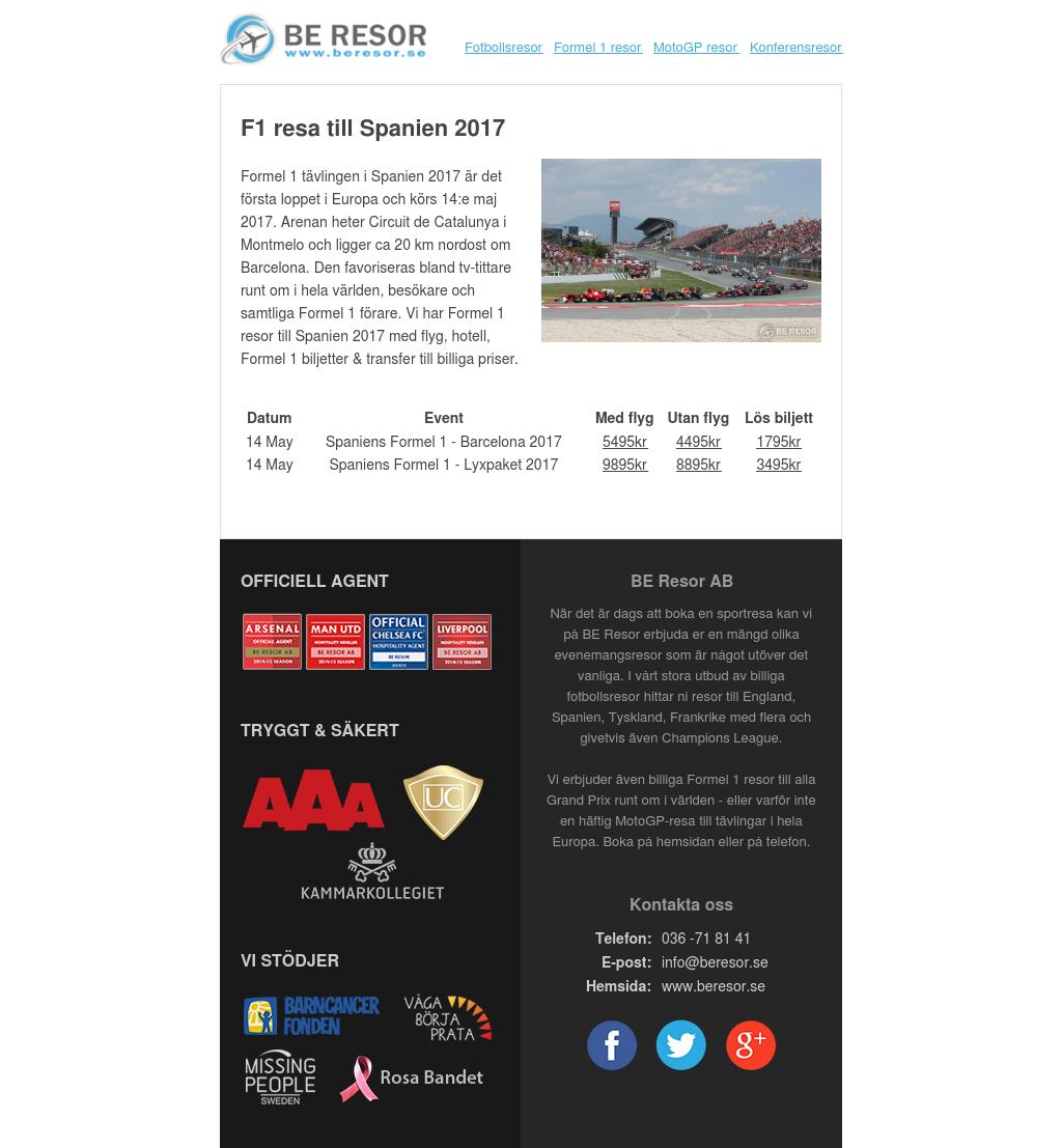 F1 resa till Spanien 2017